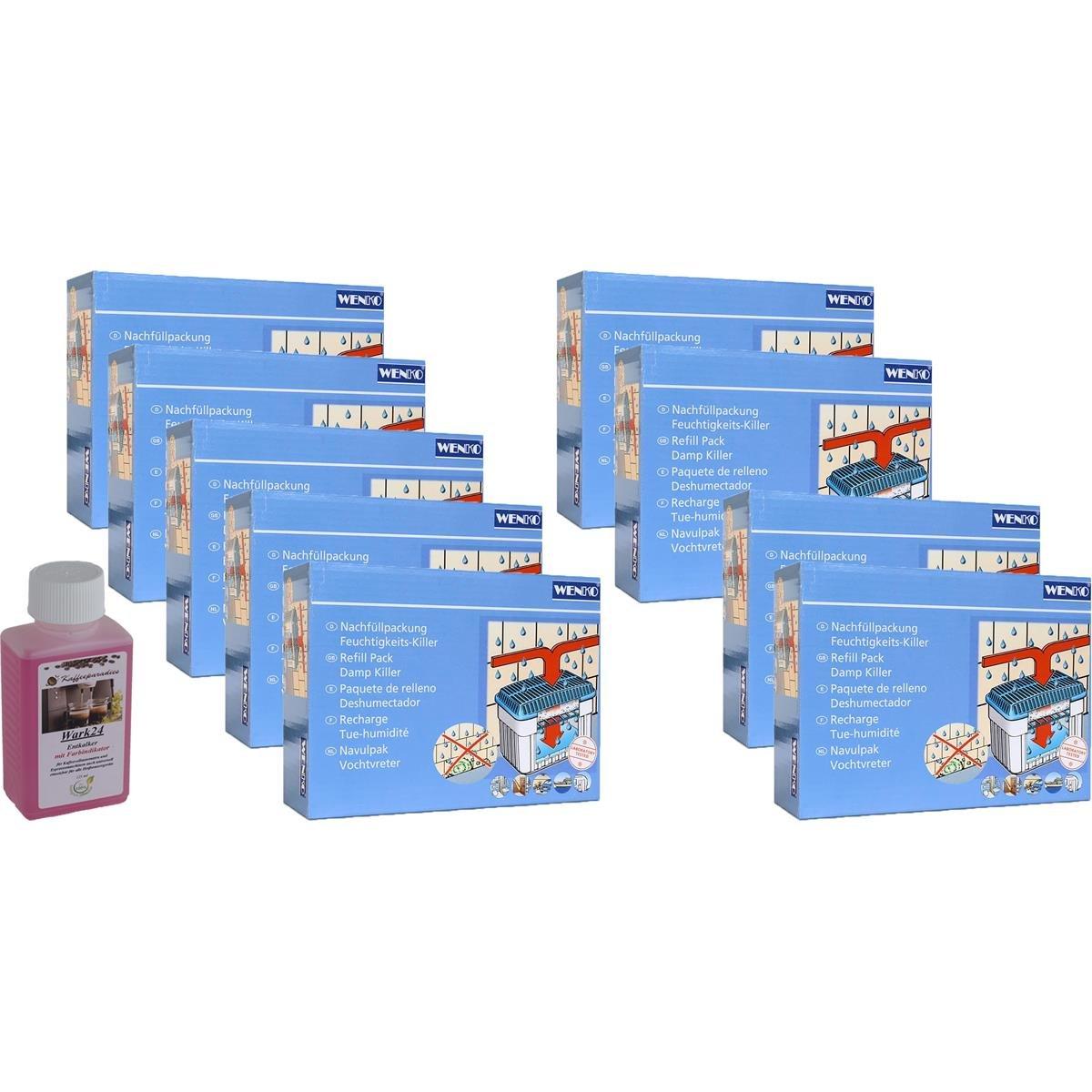 1kg Granulat 9x Wenko Nachf/üllpackung Feuchtigkeitskiller Raum-Entfeuchter