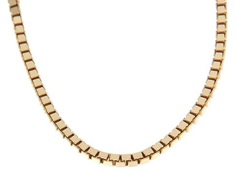 Orocatena - Cadena de Oro Amarillo 18 kilates para Hombre 50cm - Collar  Veneciana de Oro de 18 quilates genuino 10.55gr  Amazon.es  Joyería 675352e84b3