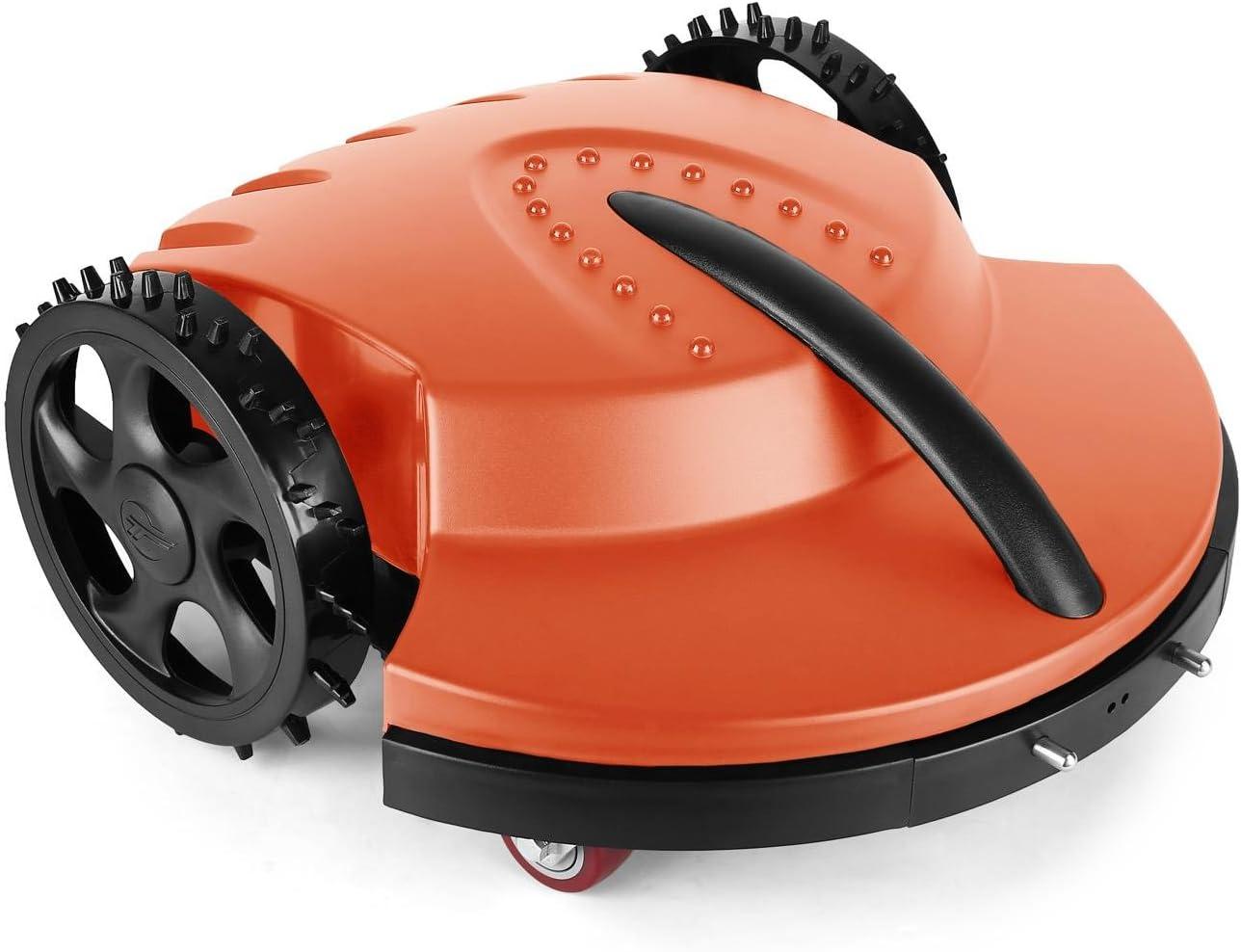 oneConcept Garden Hero robot cortacésped (3 horas de autonomía, velocidad de corte: 20 m por minuto, apto jardines hasta 1.500 m², altura de corte: 3 o 4 cm) - naranja: Amazon.es: Jardín