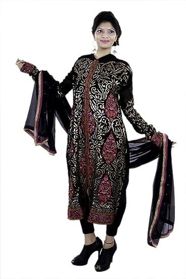 6d7e05ce17 Black Designer Suit Top-Georgette. Dupatta-Georgette. Bottom-Viscose satin.