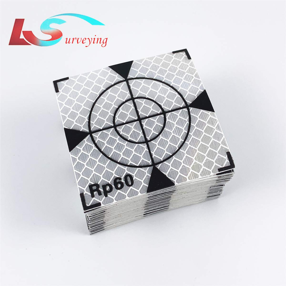 New 100PCS Paste Up Reflector Sheet Reflective Tape Target 60x60mm for Topcon Sokkia Trimble Leica Surveying by LS2015