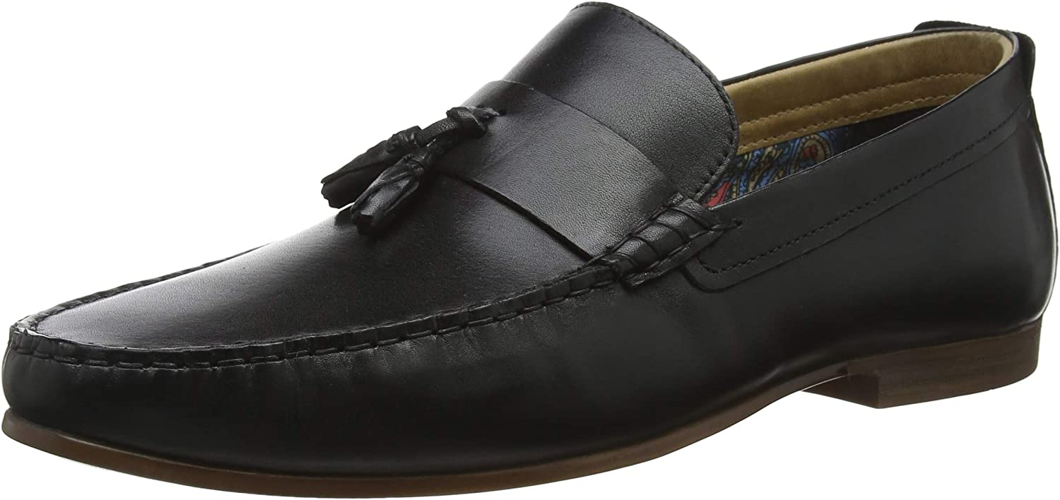 Red Tape Mens Elvaston Loafers Shoes Brown