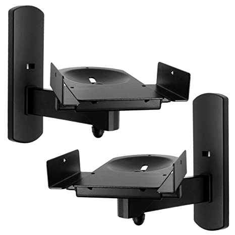 mounting for swivel pair and wali surrounding side tilt buy mount sound large bracket black one bookshelf wall of price dp with speaker speakers clamping