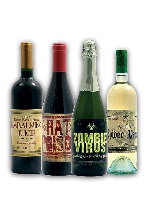 amazon com halloween wine bottle stickers 8 count toys games