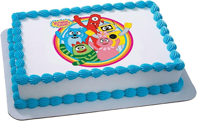 Peachy Amazon Com Yo Gabba Gabba Dancey Dance Edible Icing Cake Topper Funny Birthday Cards Online Overcheapnameinfo