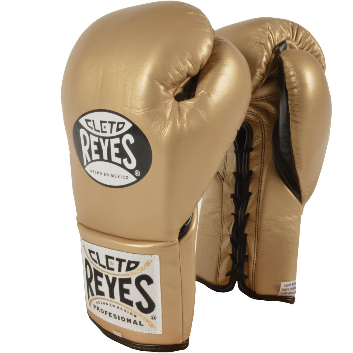 Cleto Reyes Official Lace Up Competition Boxing Gloves - 8 oz. - Solid Gold