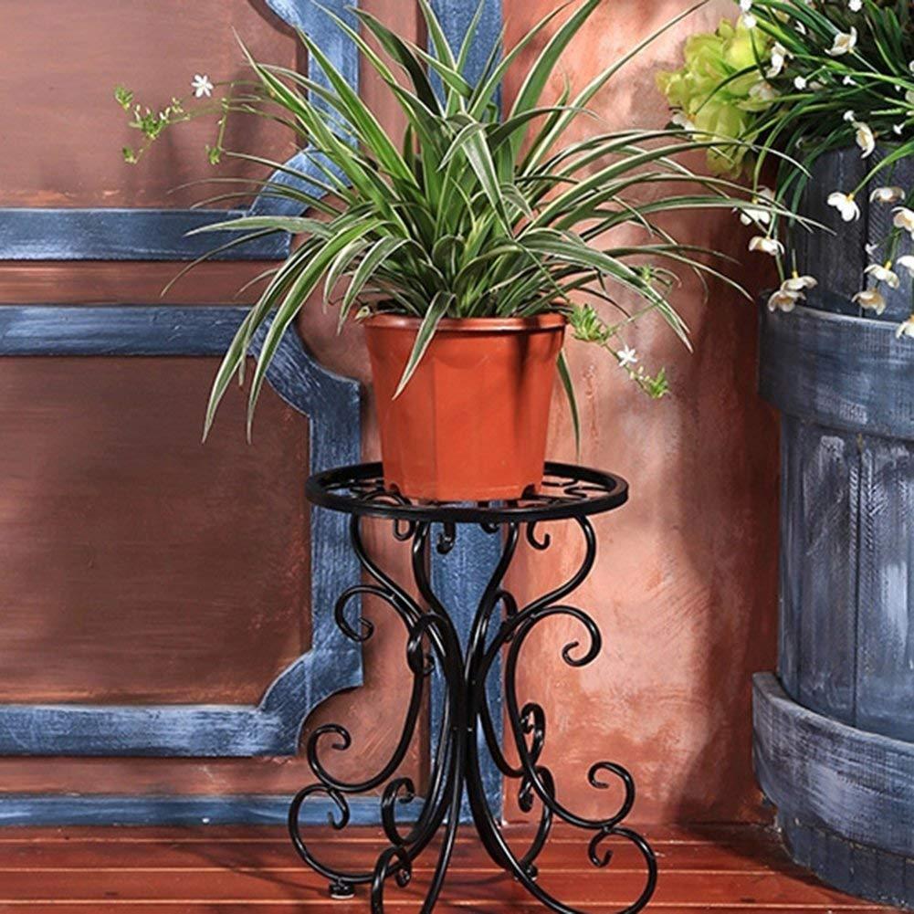 Domitlar Home Indoor Balcone Singola in Ferro battuto Fiore Stand Rack Creative Flower Ball Flower Supporto Sgabello carico Cartone