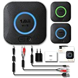 1Mii B06 Plus Bluetooth Receiver, HiFi Wireless Audio Adapter, Bluetooth 4.2 Receiver with 3D Surround Low Latency for Home Music Streaming Stereo System