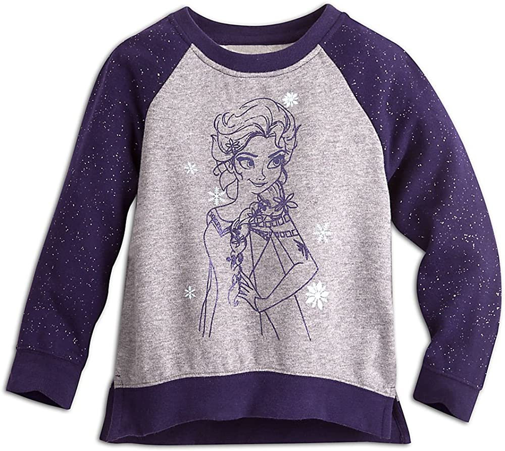 Disney Kids Elsa Raglan Sleeve Sweatshirt Blue