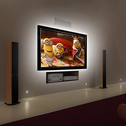 80u0026quot; LED TV Backlight Bias Lighting for HDTV Bright White Kohree USB Powered & Amazon.com: 80