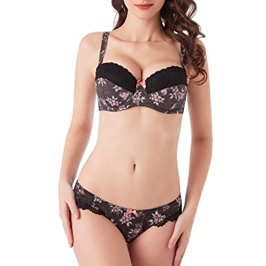 4a53bcf71226f MIERSIDE Women s Comfort Sexy Strapless Bra and Panty Set Black at ...