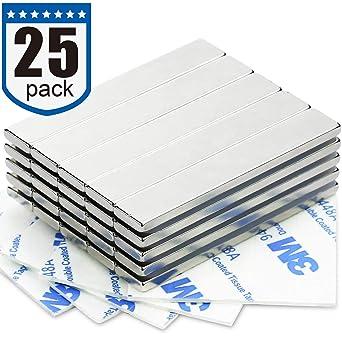 Imanes de barra de neodimio fuerte (25 unidades) - 2 x más fuertes ...