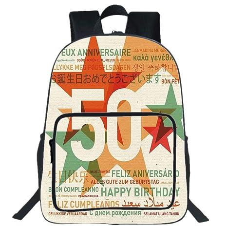 Verjaardag 19.Amazon Com Iprint 19 Large Casual Backpack 50th Birthday