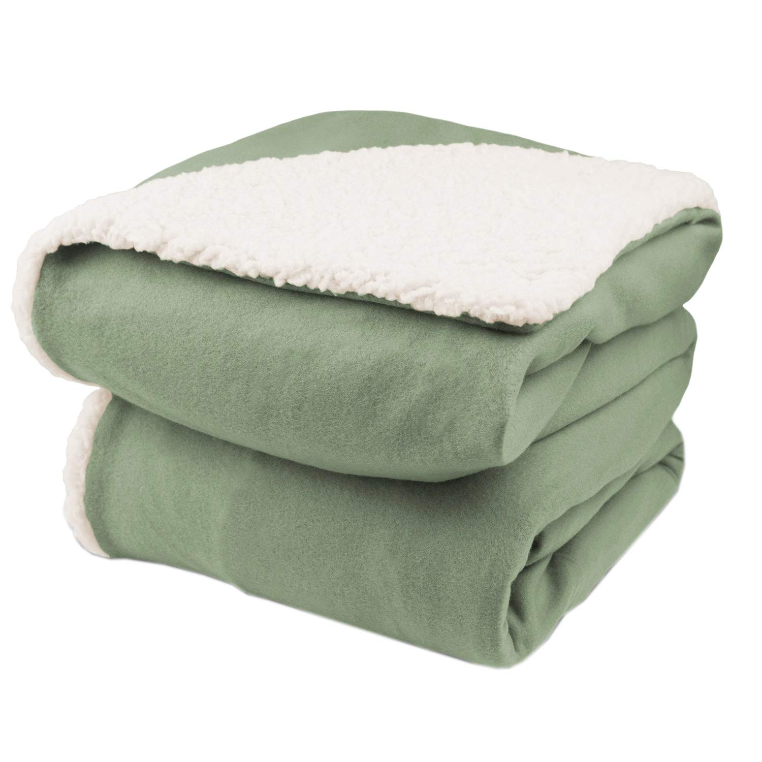 Biddeford Comfort Knit Heated Throw Blanket with Natural Sherpa Off-White COMINHKR066491