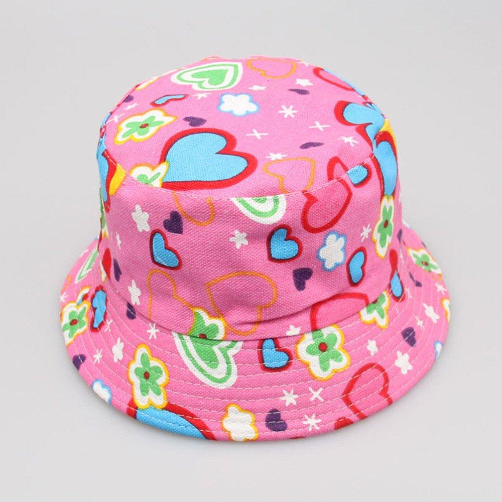 VEKDONE Toddler Baby Kids Boys Girls Floral Pattern Bucket Hats Sun Helmet Cap