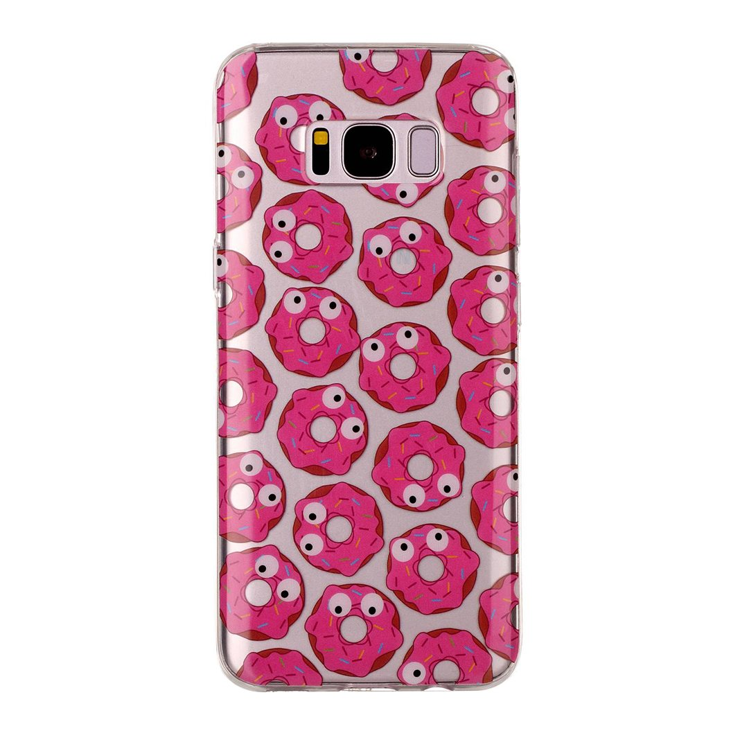 Galaxy s8ケース、SAMSUNG GALAXY s8カバー、ピンクリボン運動透明クリスタルクリア柔軟Tpuラバーバンパーバックケースソフトシリコンカバー保護シェルスキンケースカバーfor Samsung Galaxy s8 KUN2017023514-UK B072PXD14N  Cute Eye
