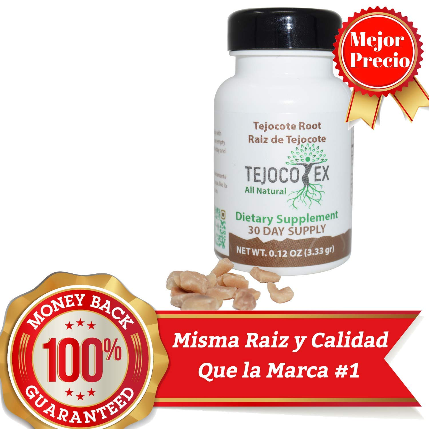Amazon.com: Tejocotex Raiz de Tejocote Root Supplement 100% Pure Authentic Money Back Guaranteed Same as Leading Brand All Natural Weight Loss Supplement ...