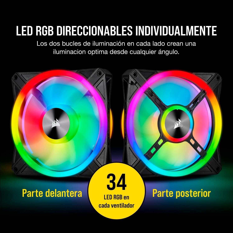 Corsair iCUE QL140 RGB, Ventilador LED RGB de 140 mm , 34 LED RGB ...