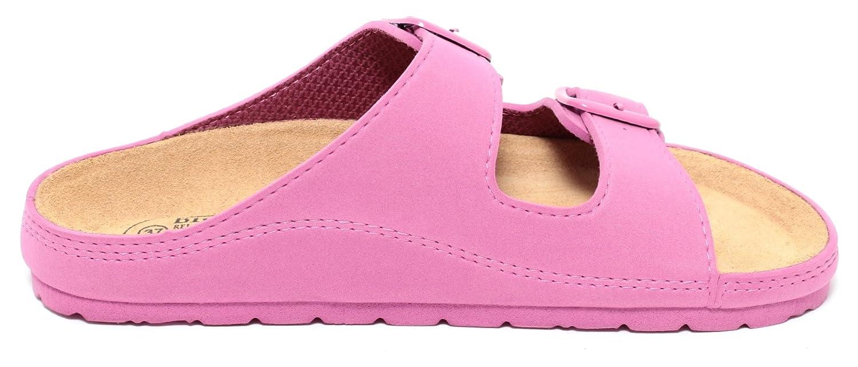 Damen Bio Clogs Tieffußbett Pantolette Sandale Slipper Schuhe WALDBEERE PINK Gr. 37-39 (37) uXnpnBfb