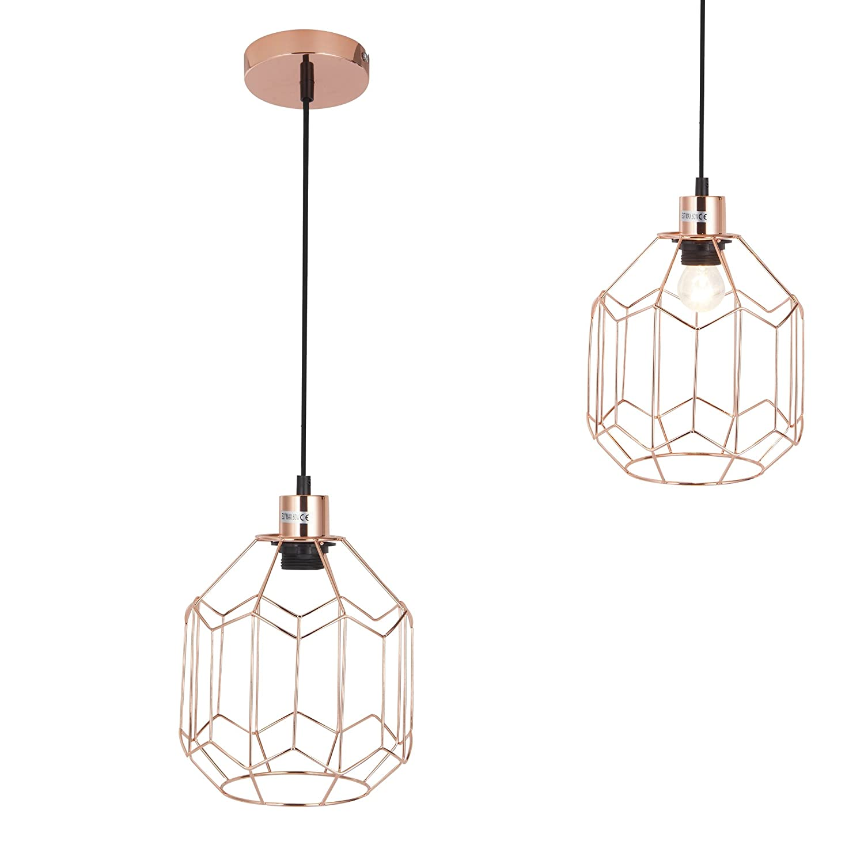 [lux.pro] Hängeleuchte Vintage E27 Messing Esszimmer Deckenlampe Pendel  Leuchte: Amazon.de: Beleuchtung