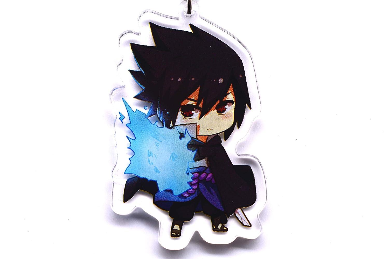 Anime Domain Llavero de Naruto con Figura Chibi(Uchiha Sasuke)