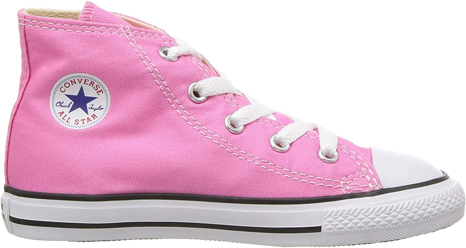 Converse Chuck Taylor All Star High Top Infant Canvas Shoes Pink 7j234