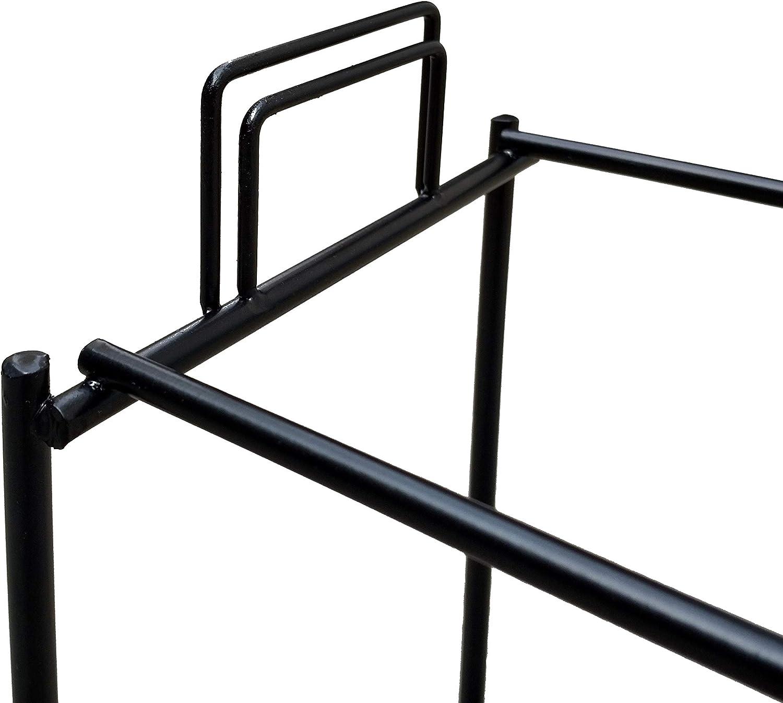FixtureDisplays 5.29 L x 6.50 W x 13.29 H Key Chain Wire Display Rack Small Items Counter Display Souvenior Wire Rack Two-Tier Metal Wire Display Rack for Hanging Items 18472-2D