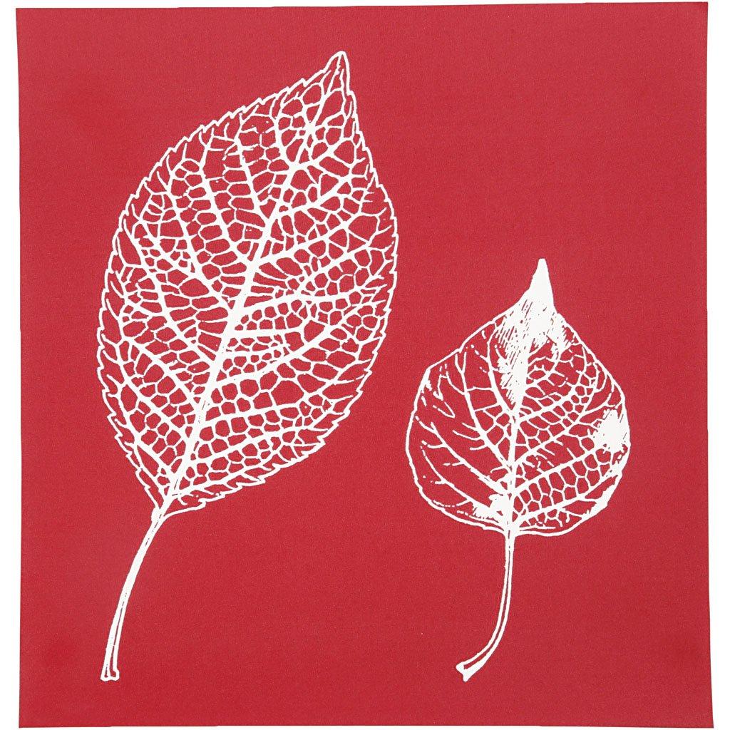Scheda stencil, foglio 20x22 cm, foglie, 1fogli Creativ Company