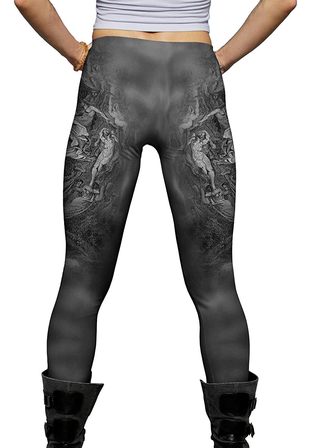 Dantes Inferno Dante -New Ladies Womens Leggings 2204 Yizzam Gustave Dore