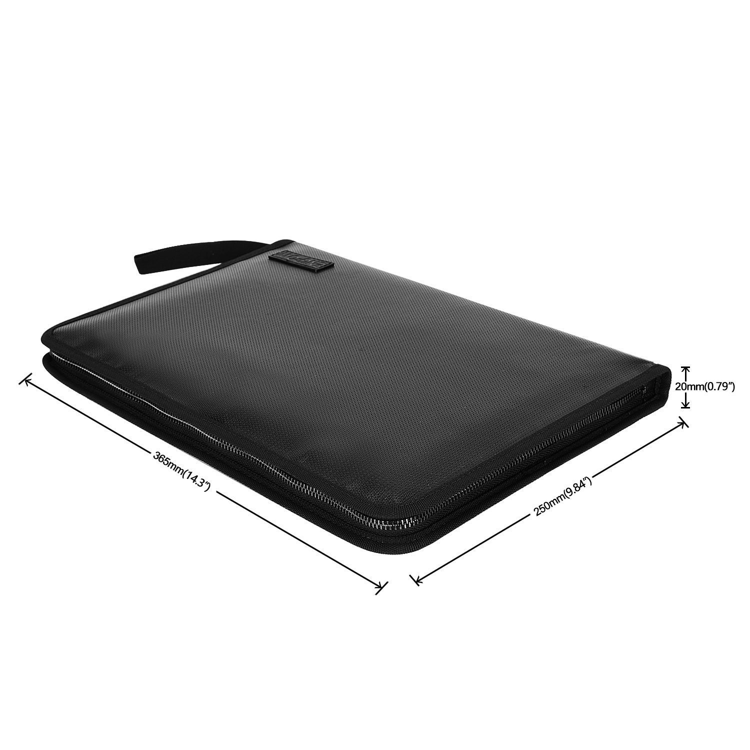 Fireproof File Folder Fireproof Fire and Water Resistant Money Document Bag with A4 Size 12 Pockets Zipper Closure Non-Itchy Silicone Coated Portable Filing Organizer Pouch(14.3\' x9.8\')