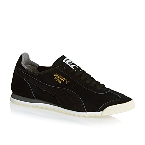 Amazon.com   PUMA Roma OG Leather Mens Running Trainers 361320 Sneakers  Shoes (UK 11 US 12 EU 46, Black Steel Grey White 02)   Fashion Sneakers 324a9668314f