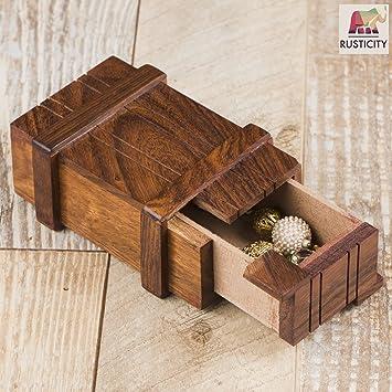 craftgasmic Mystery Box / Magic Box with Secret Opening| Handmade | (4x2.5 in)