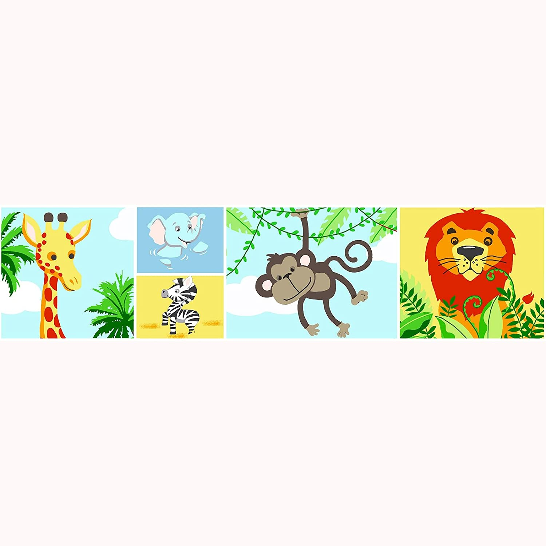 jungle-tastic animales de la selva –  papel pintado frontera –  a12901 –  Price Right Home diseñ o exclusivo