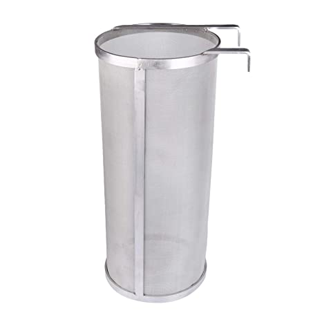 Freehawk Dry Hopper Brewing Filter 300 Micron Mesh Stainless Steel Filter  Tea Kettle Brew Filter Beer Strainer for Homebrew of Beer Wine Coffee (6 x