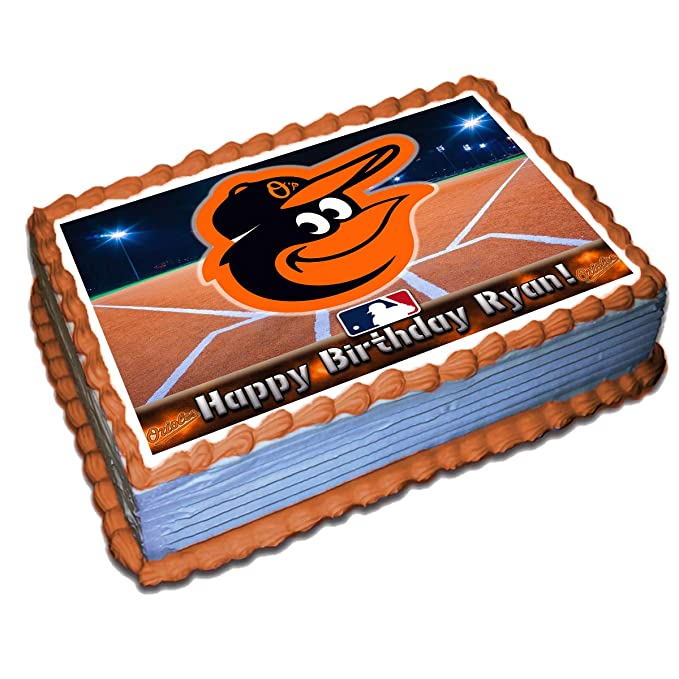 Tremendous Baltimore Orioles Mlb Personalized Cake Topper Icing Sugar Paper 1 Personalised Birthday Cards Akebfashionlily Jamesorg