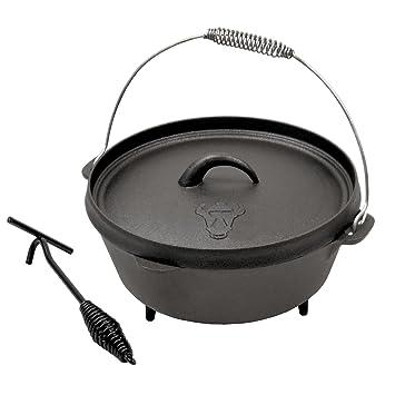 BBQ-TORO DO6 Dutch Oven Topf, Kochtopf aus Gusseisen, Gusstopf ...
