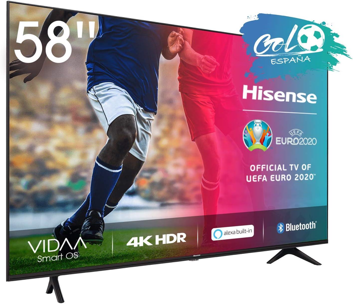 Hisense 58AE7000F - Smart TV Resolución 4K, UHD TV 2020, con Alexa integrada, Precision Colour, escalado UHD con IA, Ultra Dimming, audio DTS Studio Sound, Vidaa U 4.0: Amazon.es: Electrónica