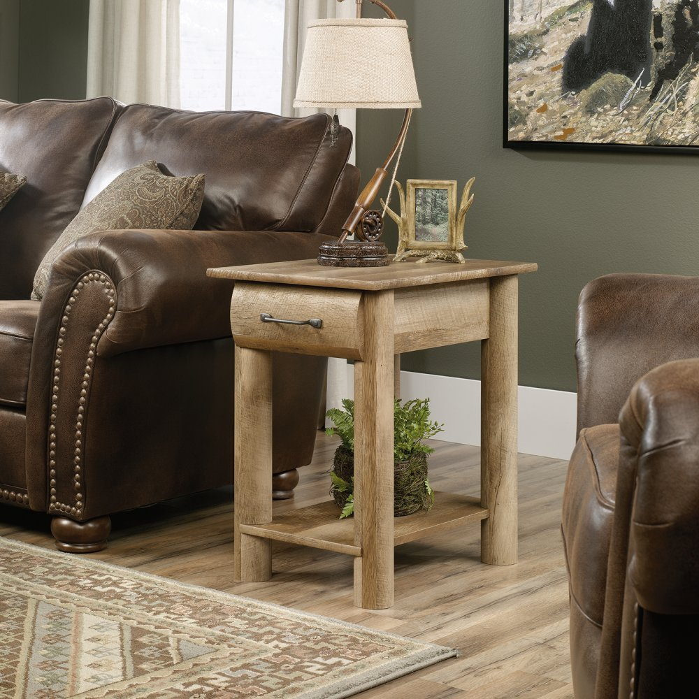 Amazon.com: Sauder Boone Mountain End Table In Craftsman Oak: Kitchen U0026  Dining