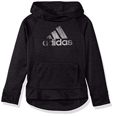 91b3e2cfa adidas Girls' Big' Pullover Sweatshirt, Black Heather, ...