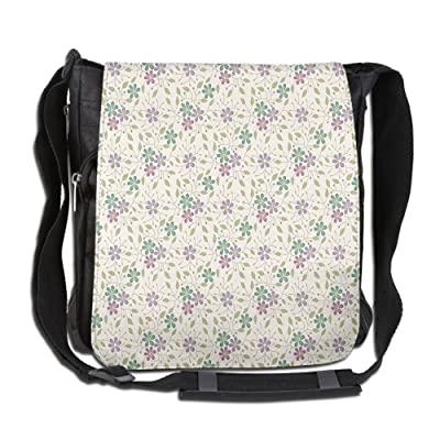 Lovebbag Flower Grass Abstract Stylization Vacation Romance Holiday Wedding Classics Crossbody Messenger Bag