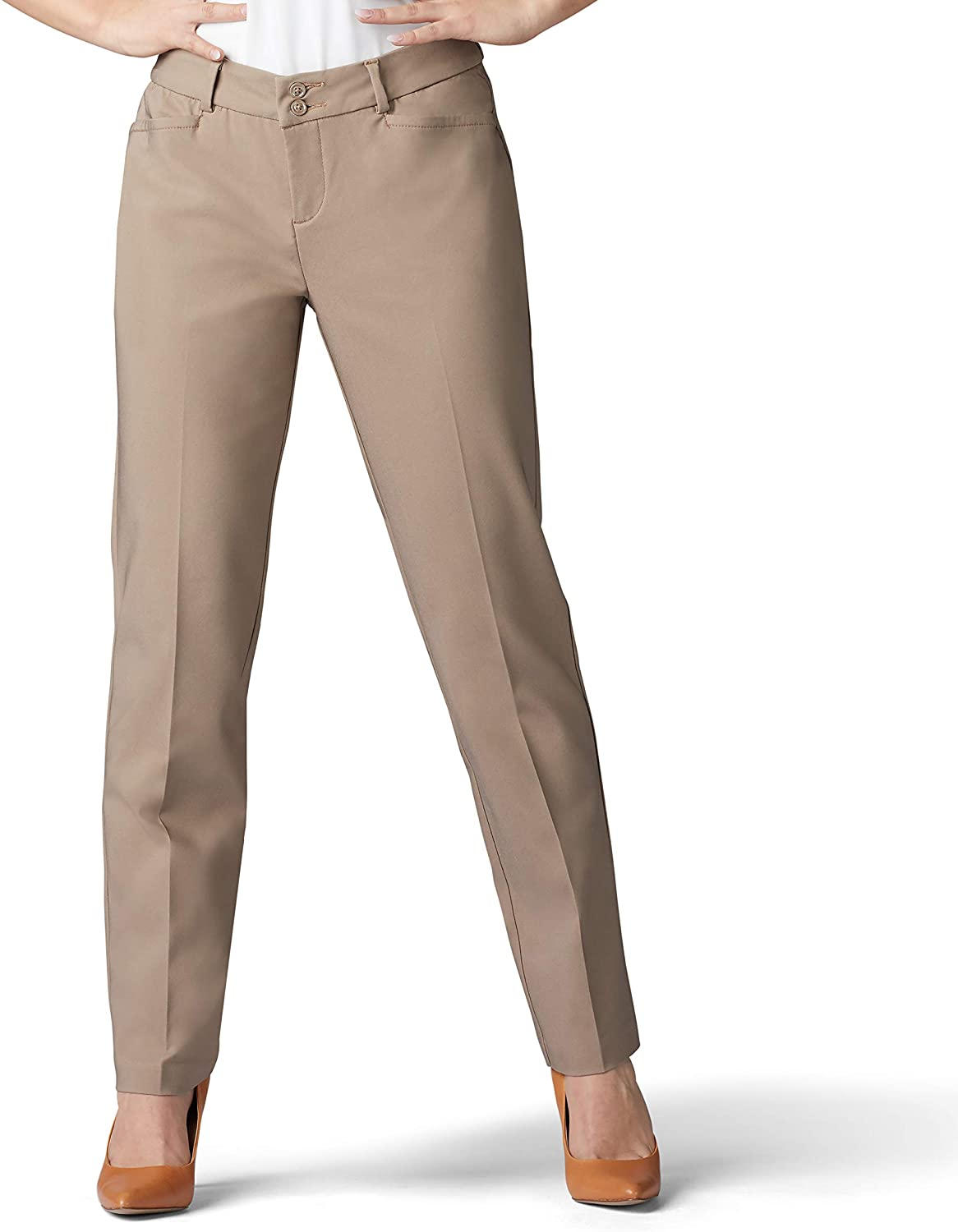 Lee Women's Petite Secretly Free Shipping New Shapes OFFicial mail order Regular Fit Leg Pant Straight