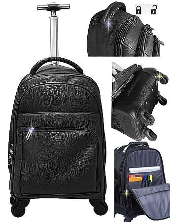 6d33efd16 Mochila Bolsa Executiva Corino Resistente Notebook com Carrinho e Rodinha  360 (Preto)