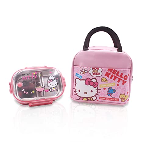 Image Unavailable. Image not available for. Color  Finex Hello Kitty  Zippered Insulated Lunch Bag ... 0ae9f202fb44c