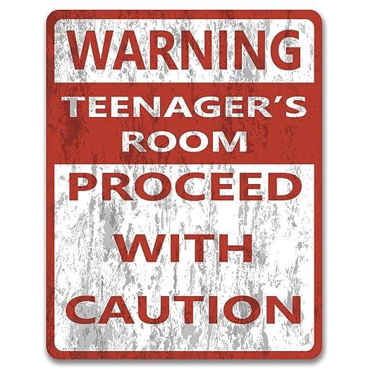 Advertencia adolescentes, metal de dormitorio o la pared ...