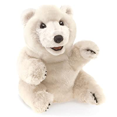 Folkmanis Sitting Polar Bear Hand Puppet: Toys & Games
