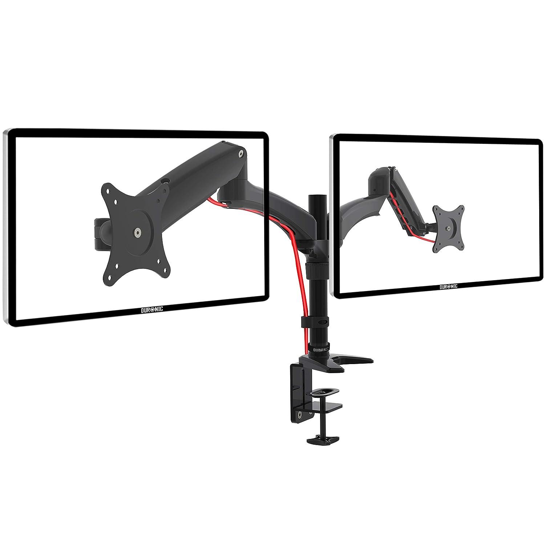 """Duronic DM55W1X1 Supporto da parete monitor 15"""" – 27"""" con braccio estensore regolazione a molla VESA MAX 100 x 100mm struttura in aluminio portata 8kg"""