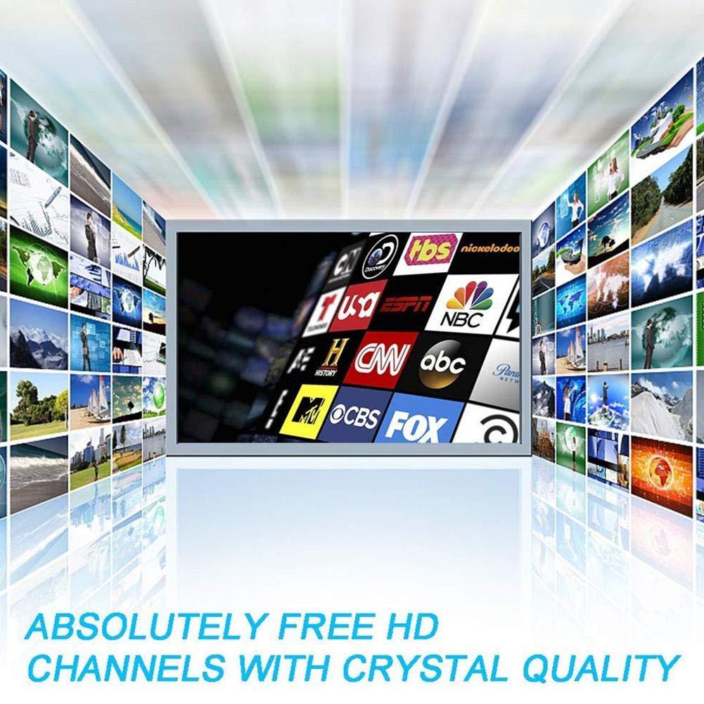 colinsa Antena De Refuerzo De Señal De TV De Fibra De Carbono Profesional De 1180 Millas De TVdigital 4K HD Freeview Life Canales Locales Todo Tipo Interruptor De Televisión Amplificador De Señal: