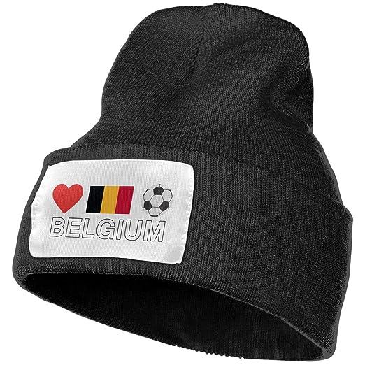 e52f1599006b37 Amazon.com: Unisex Belgium Football Belgium Soccer Beanie Hats - 100 ...