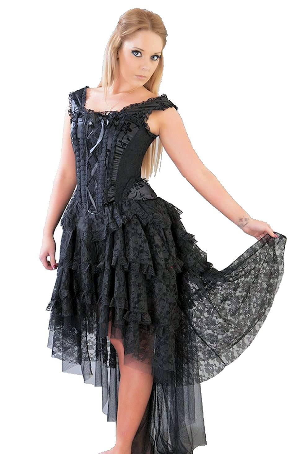 Steampunk Skirts | Bustle Skirts, Lace Skirts, Ruffle Skirts Black Ophelie Skirt $86.99 AT vintagedancer.com