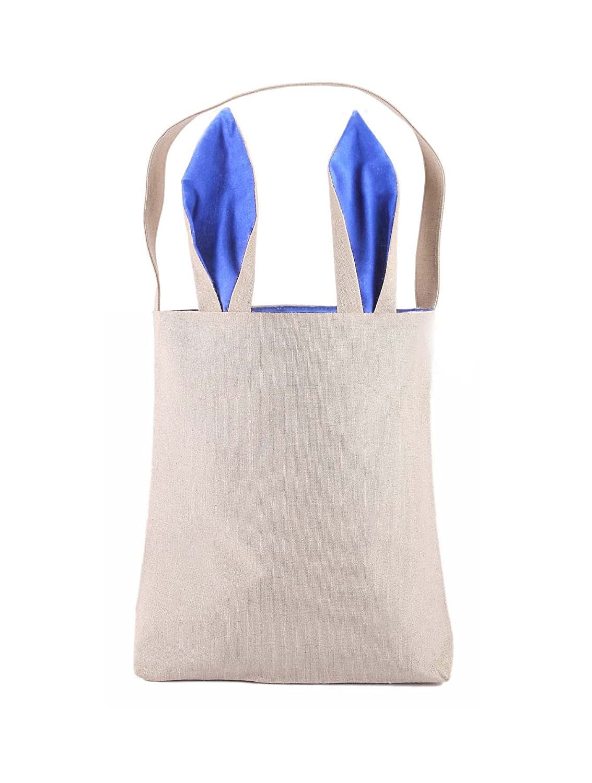 pjs-max Easter Bunnyバッグウサギ耳形状細工ジュート布素材イースターギフト梱包の子Fine Festivalギフトサイズ9.5インチ* 12インチ* 3.8 CM、重量4.23オンスBear、55 IBS 9.5
